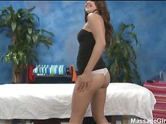 Hawt Eighteen year old hottie acquires drilled hard by her massage therapist