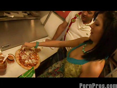 Smokin' hawt and very constricted Eighteen year old Kenna Kane needs to earn a not many supplementary bucks to go to college. So that chick got a job at a pizza parlor and acquires her tips blowing her manager's sausage! No Thing like pounding greater amount than just dough in the kitchen...